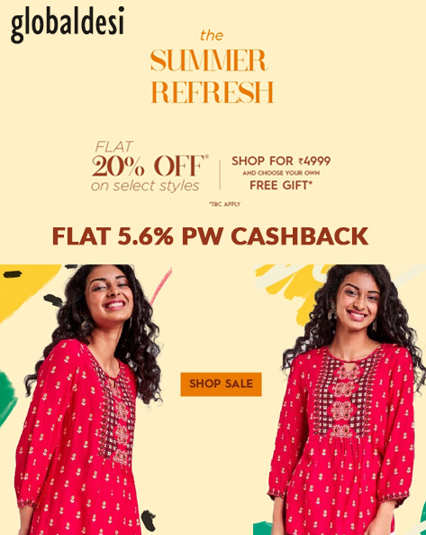 THE SUMMER REFRESH | Flat 20% Off + Free Summer Gift on Orders Of Rs.4999 & Above